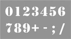 Pochoir Chiffres de 0 à 9 - Direct-signalétique.com
