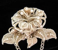 Fine Antique Early 1800's GEORGIAN Seed Pearl Brooch NR