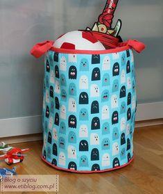 Jak uszyć kosz na zabawki dla dziecka - tutorial - eti blog o szyciu