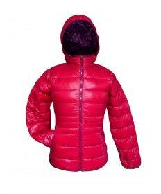 JOLUVI-ANORACK MUJER DOWN HOOD CEREZA BERENJENA Prenda ligera y cómoda. Tejido de plumas contra el frio y el aire. Impermeable y transpirable. Posibilidad de guardarlo en una bolsa www.easosport.com