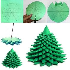 diy pine tree - i bet it would be gorgeous in white!