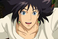 Love his black hair! - Howl's Moving Castle