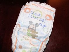 Have each guest write a message on a diaper.. Will make mama or daddy laugh for a while during diaper changes