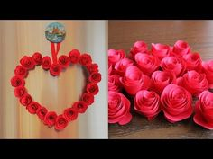 DIY Paper Heart Wall Hanging - Easy Wall Decoration Ideas - YouTube