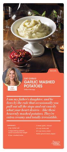 Macy's Culinary Council Chef Cat Cora's Garlic Mashed Potatoes