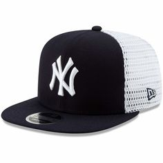 0ae31b78ee3 Men s New York Yankees New Era Navy White Mesh Fresh 9FIFTY Adjustable  Snapback Hat