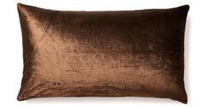 Fiona 14x24 Velvet Pillow, Brown
