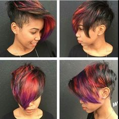 Beautiful Trendy Colors For Short Hair If you want to change the color of your hair short we offer the best coloring ideas according to the latest hair trends. Admire our beautiful models and Dope Hairstyles, My Hairstyle, Short Sassy Hair, Short Hair Cuts, Love Hair, Gorgeous Hair, Curly Hair Styles, Natural Hair Styles, Hair Shows