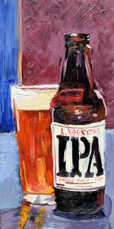 Beer Art Print of Lagunitas IPA Limited by RealArtIsBetter, $35.00
