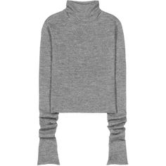 Acne Studios Jiao Alpaca and Wool Sweater (11 925 UAH) ❤ liked on Polyvore featuring tops, sweaters, grey, gray wool sweater, grey wool sweater, grey sweater, wool sweaters and gray top