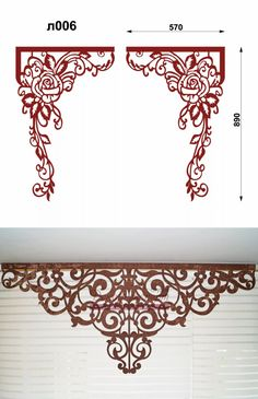 yandex.ru Curtain Styles, Curtain Designs, Window Pelmets, Thermocol Craft, Temple Design For Home, Cnc Cutting Design, Ornament Template, Wood Curtain, Wedding Stage Decorations