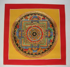 Currently at the #Catawiki auctions: An original Kalachakra mandala thangka painting, signed - Nepal - Contemporar...