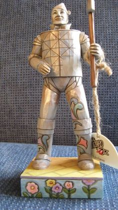 """The Wizard of Oz """"The Tin Man"""" by Jim Shore Figurine  - http://collectiblefigurines.net/jim-shore/wizard-of-oz/the-wizard-of-oz-the-tin-man-by-jim-shore-figurine/"""