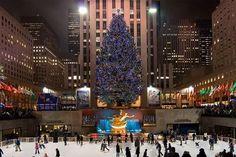 Christmas tree at Rockefeller Centre.