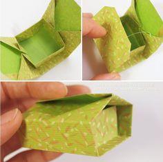 종이접기/상자접기~종이 한 장으로 완성되는 상자접기(직사각형 속 정사각형 상자) : 네이버 블로그