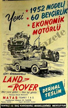 Goes anyplace - sees every part 1952 Land Rover. Vintage Movies, Vintage Ads, Old Advertisements, Advertising, Land Rover Suv, Old Poster, Car Posters, Design Graphique, Realistic Drawings