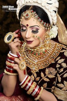 Fulfill a Wedding Tradition with Estate Bridal Jewelry Bridal Makeup Looks, Bridal Hair And Makeup, Bridal Looks, Bridal Style, Wedding Beauty, Wedding Wear, Wedding Bride, Bridal Hair Accessories, Bridal Jewelry