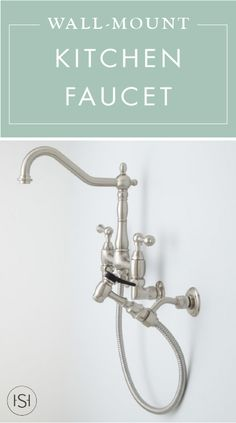 Felicity Wall Mount Kitchen Faucet With Side Spray