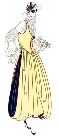 DESIGNS BY ERTE OF PARIS, C.1916 PUBLIC DOMAIN  FOLLOW LINK TO ARTICLE; ILLUSTRATION IS PUBLIC DOMAIN