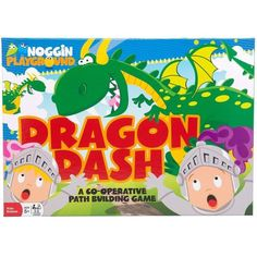 Dragon Dash Game $16.99  Description Dragon Dash is a cooperative early learning game for kids. All players are teammates and have the same goal. Players must build a safe path across the green fields of Dragonwood while dashing past diving dragons. Helps Develop, Social Development, Critical Thinking, Light Strategy and Basic Math Grid Concepts Includes 2 jumbo dice, large game board, 21 path tiles, 16 dragon tiles, and 3 knight's gear tiles. Recommended for 2-6 players. Ages 5+