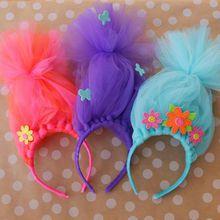 Crazy Hair Headband OR MY GIRLS SAY  - TROLLS HEADBANDS