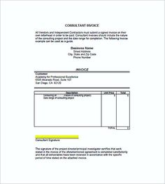 Simple Commercial Invoice Format Templates Free  Download