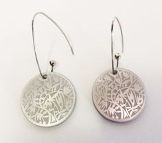 Etched silver Perspex earrings @ This Papercut Life