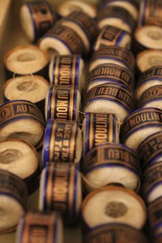 vintage French thread spools
