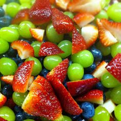 Fruit Salad with Honey-Lime Dressing - always a big hit!