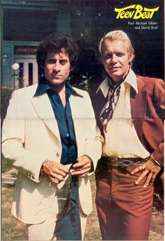 """Starsky and Hutch --- two Southern California policemen: the dark-haired Brooklyn transplant David Michael Starsky (Paul Michael Glaser) who was a streetwise detective and U.S. Army veteran with intense, sometimes childlike moods, and the blond Duluth, Minnesota native Kenneth 'Hutch' Hutchinson (David Soul), a more reserved and intellectually inclined character. Under the radio call sign """"Zebra Three"""", they were known for usually tearing around the streets of fictional """"Bay City…"""
