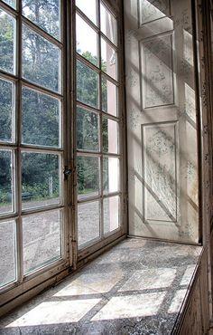 Schloss Amalienburg. photography by Chris Hittinger House Windows, Windows And Doors, Cottage Windows, Photomontage, Georgian Architecture, Old Cottage, Casement Windows, The Secret History, Through The Window