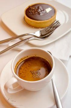 Espresso + Chocolate = YUM by Cass Peterson Greene But First Coffee, I Love Coffee, Coffee Break, My Coffee, Espresso Coffee, Morning Coffee, Coffee Cafe, Coffee Drinks, Café Chocolate