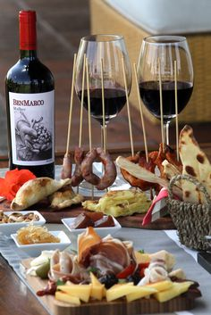 Finger foods with BenMarco Malbec--Looks like a great party...