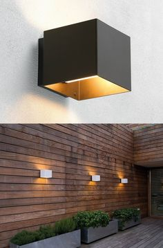 Aluminium wall #lamp WELCOME OUTDOOR by Embacco Lighting | #design Lise Nørgaard