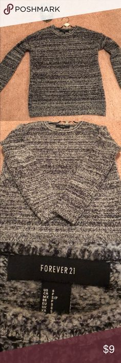 Forever 21 sweater grey and black tweed look!! This is a gorgeous warm sweater!! Worn four times this season - I need room in my closet!! It's in good condition and has only been dry cleaned!! Forever 21 Sweaters Crew & Scoop Necks
