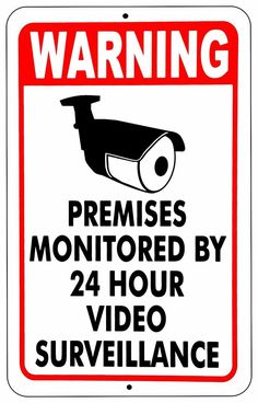 WARNING SIGNS 24 HOUR VIDEO SURVEILLANCE SECURITY SIGN - CCTV CAMERA SIGN #Mysignboards