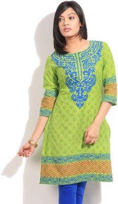 Women's Cotton Office Wear Kurti At Rs 297 Lowest Online Price - Flipkart Offers - Shoppingandcoupon.com