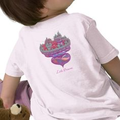 http://www.zazzle.com/little_princess-235650285599206549?rf=238739306683447883  Little Princess by Rosemariesw  A fantasy fairytale castle built on a cushion of hearts that every little princess that you have made with love will feel special in...add her name to customize it for her..
