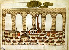 Great Aqueduct at Constantinople -  Turkish Memories, Cicogna Codex, Turkey 17th Century