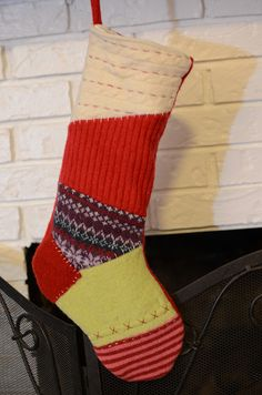 New green mama blog - felt stockings