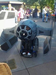 wheelchair costume...awesome