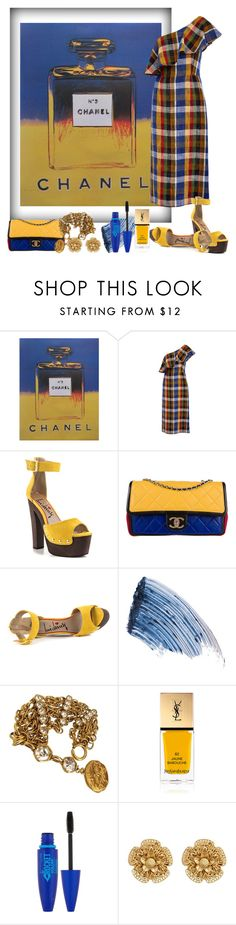 """pop art: andy warhol"" by art-gives-me-life ❤ liked on Polyvore featuring Nicholas Kirkwood, Chanel, TIBI, Luichiny, Sisley, Yves Saint Laurent, Maybelline, Miriam Haskell, contestentry and artinspired"