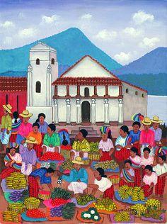 "Margarito Chex Icu ""Market Santiago Atitlan"". Guatemala"