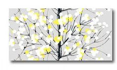 Grey Yellow Wall Art. Perfect for when I have my grey and yellow bedroom!