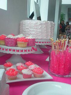 A Sweet Baby Girl Pink Baby Shower Dessert Buffet   Baby Lifestyles