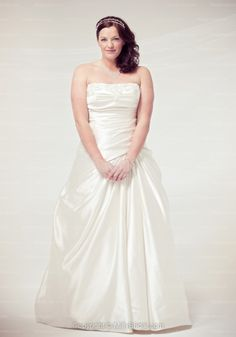 Sweep Train Taffeta White Strapless A-line Pleating Wedding Dress