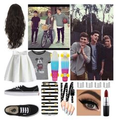 """Hanging with the Omaha Boys"" by colliner13 ❤ liked on Polyvore featuring Topshop, Chicwish, Vans, Sonix, Chanel, Maison Margiela, MAC Cosmetics, women's clothing, women and female"