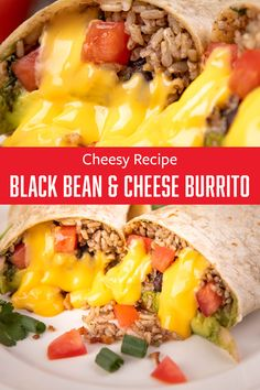 Want an easy recipe? Our black bean cheese burritos are ready in a snap! Grilled Bell Peppers, Stuffed Peppers, Recipe For 4, Recipe Using, Game Night Snacks, Spanish Rice, Cheesy Recipes, Burritos, Black Beans