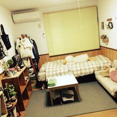 oooooさんの、部屋全体,ナチュラル,ワンルーム,一人暮らし,目指すはカフェ風,のお部屋写真