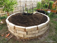 A Basic Keyhole Garden:  Overview of design, how the central compost basket works, what to fill it with